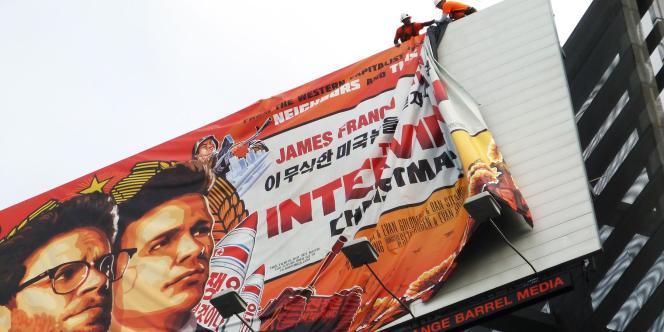 Décrochage de l'affiche du film