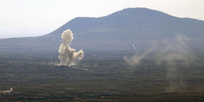 L'aviation israélienne a bombardé en mars des positions militaires dans la région de Qouneitra.