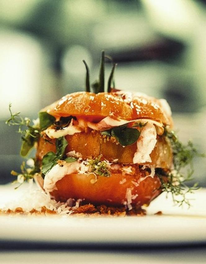 Le sandwich américain BLT revisité avec du crabe de roche.