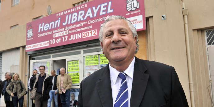 Henri Jibrayel,député (Parti socialiste) sortant, candidat aux élections législatives à Marseille, le 4 avril 2012.