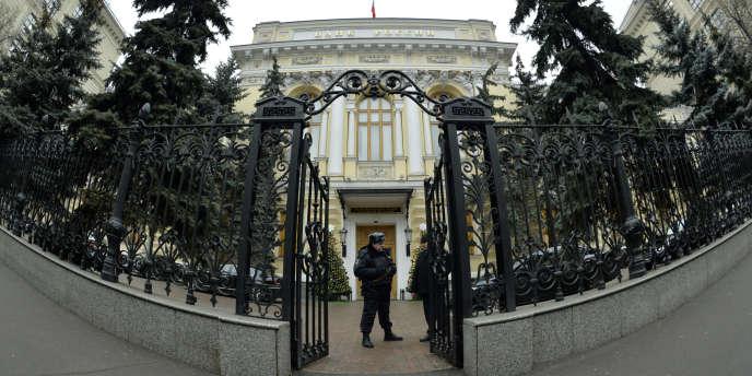 Le siège de la Banque de Russie, à Moscou.