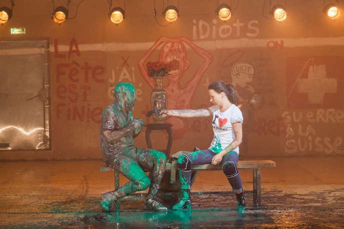 «Idiot ! Parce que nous aurions dû nous aimer», mis en scène par Vincent Macaigne (36 ans), au Théâtre de Vidy, àLausanne, enseptembre.