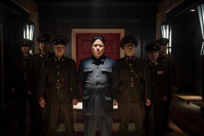 Une scène du film de Seth Rogen, « L'Interview qui tue !» avec l'interprète de Kim Jong-un.