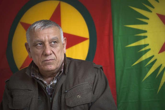 Cemil Bayik, le fondateur du Parti des travailleurs du Kurdistan, le 1er décembre 2014, au mont Qandil, en Irak.