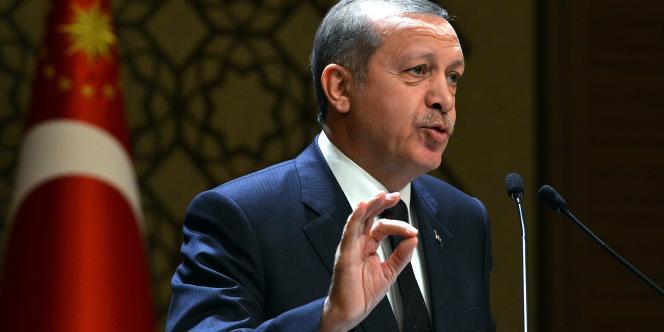 Le président turc lors d'une conférence le 25 décembre, à Ankara.