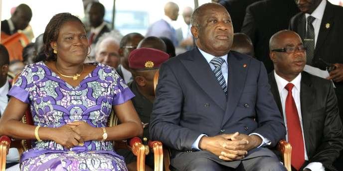 Simone et Laurent Gbagbo, en février 2011 à Abidjan.