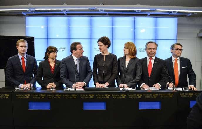 Conférence de presse des chefs de partis signataires de l'