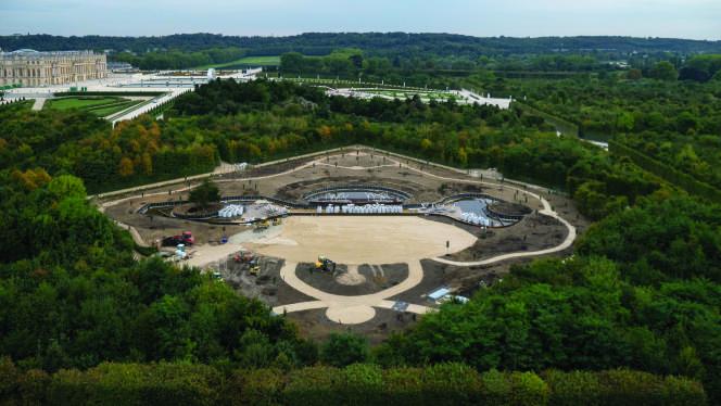 Les travaux du bosquet duThéâtre d'eau à Versailles ont été financés par l'homme d'affaires sud-coréen Yoo Byung-eun, retrouvé mort en juin 2014.