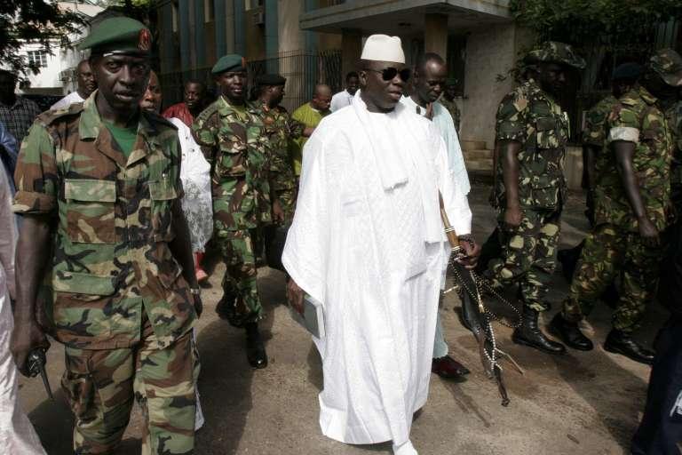 Le président de la Gambie, Yahya Jammeh, en septembre2006.