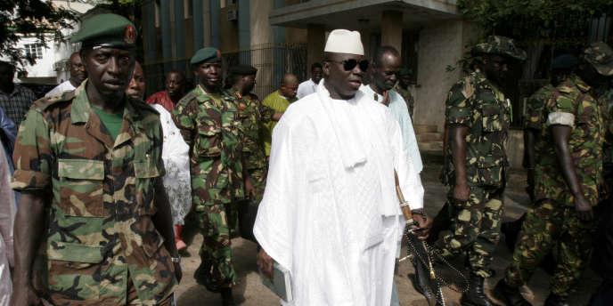 Le président gambien Yahya Jammeh, le 22 septembre 2006, à Banjul.