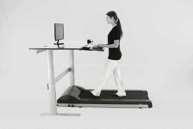 NextDesk a joint l'utile à l'agréable avec son bureau-tapis roulant.