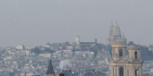 La région Ile-de-France sous la pollution, en décembre 2014.