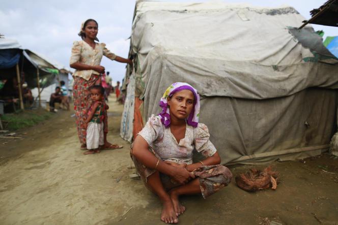 Dans un camp de réfugiés rohingya, près de Sittwe, le 9juin 2014.