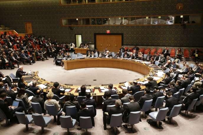 Le conseil de sécurité de l'ONU réuni le 30 décembre 2014.