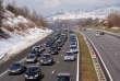 Embouteillage sur l'A43 entre Chambéry et Albertville, en février 2013.