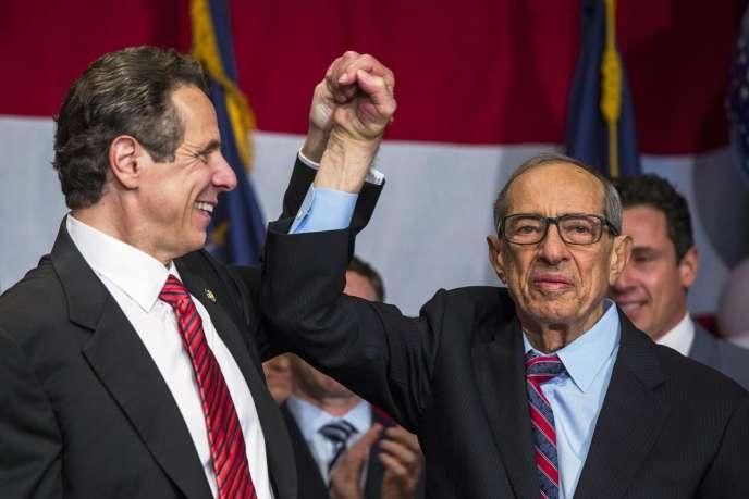 Mario Cuomo avec son fils Andrew, actuel gouverneur de l'Etat de New York.