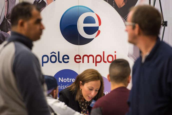A l'agence Pôle emploi de Villeneuve-d'Ascq (Nord).