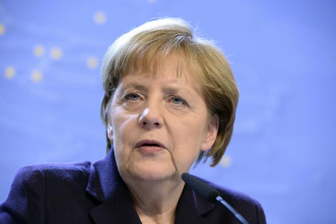 La chancelière allemande Angela Merkel le 18 décembre 2014 à Bruxelles.