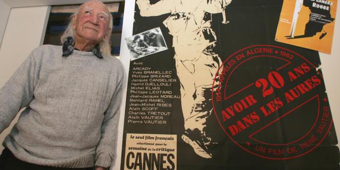 René Vautier (ici en février 2008) avait reçu le prix de la critique internationale au festival de Cannes en 1972 pour le film