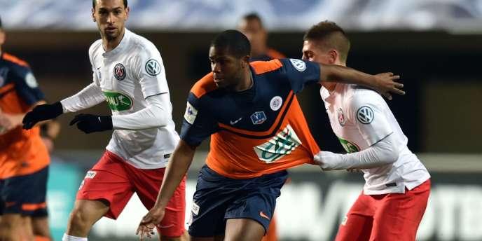 Durant le match Montpellier-PSG, le 5 janvier.