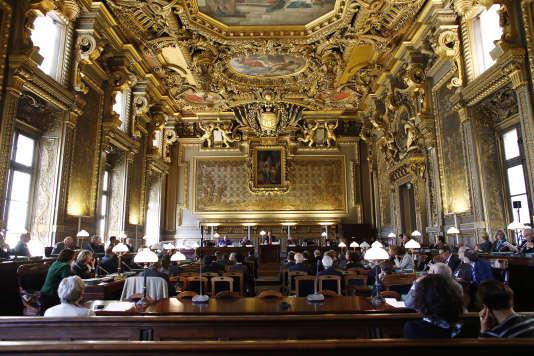 Cérémonie du 130e anniversaire du Conseil supérieur de la magistrature, en 2013, à la Cour de cassation.