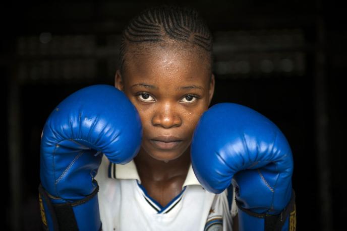 Kalituma Mbuyi, jeune boxeuxe du club