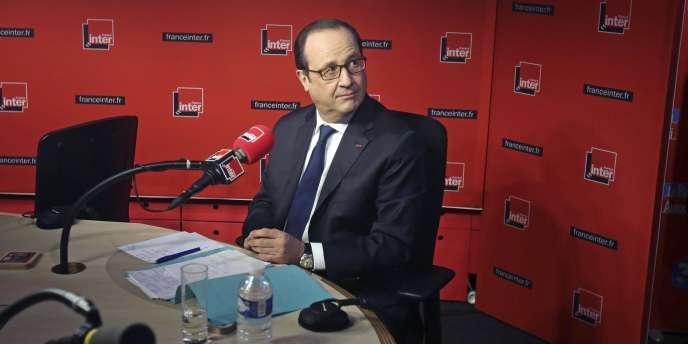 François Hollande sur le plateau de France Inter le 5 janvier.