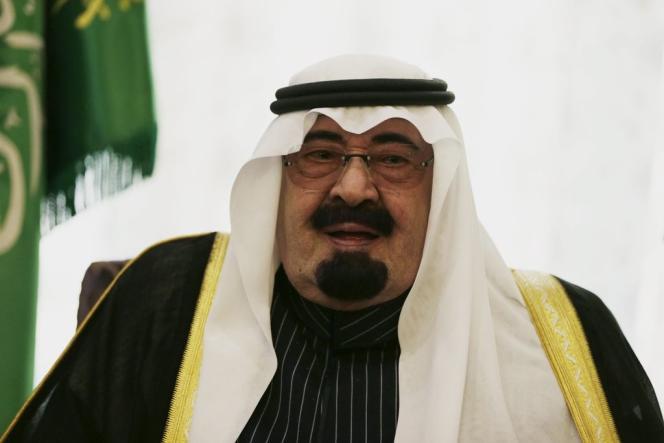 Le roi Abdallah ben Abdelaziz Al-Saoud, le 29 décembre 2013 à Riyad.