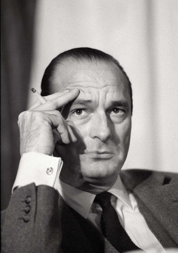 Jacques Chirac, à Paris, en 1983, lors du discours de clôture du congrès du RPR.