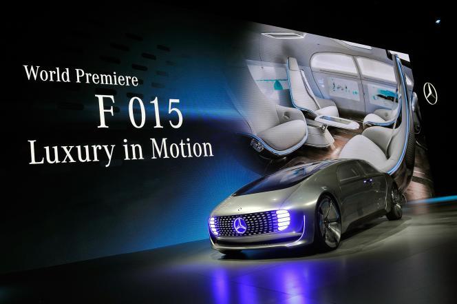La Mercedes F015, nouveau concept-car autonome, au Consumer Electronic Show de Las Vegas, le 5 janvier.