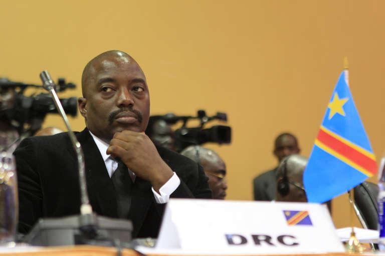 Le président de la République démocratique du Congo, Joseph Kabila, le 5 septembre 2013, à Lusaka (Ouganda).