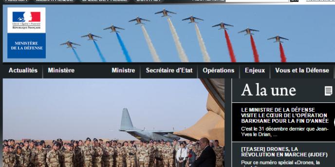 Le site du ministère de la défense.