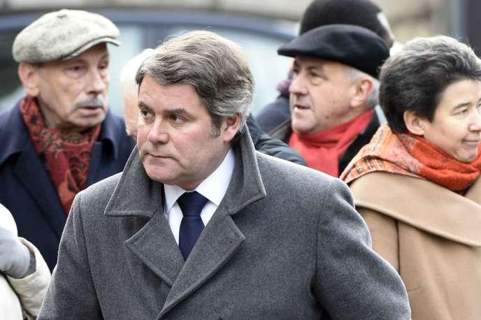 Franck Louvrier, lors de l'enterrement de Jacques Chancel, à Paris le 6 janvier.
