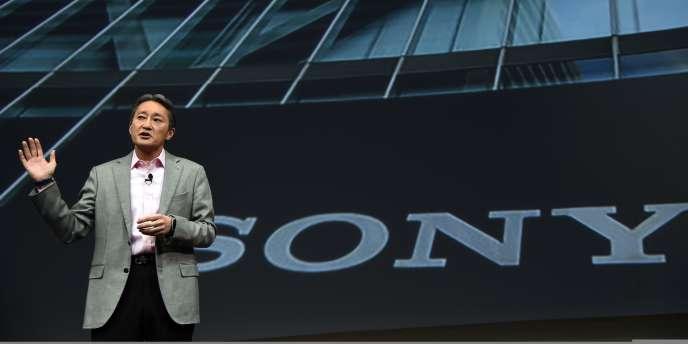 Kazuo Hirai, le PDG de Sony, le 5 janvier au CES de Las Vegas.