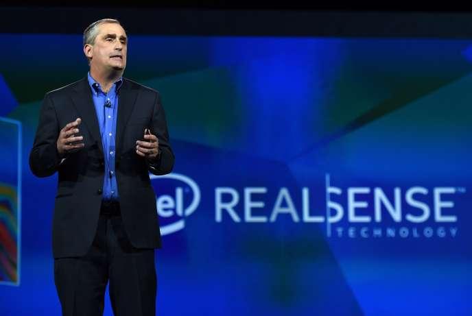 Brian Krzanich, le patron d'Intel, le 6 janvier, lors du CES de Las Vegas (Nevada).