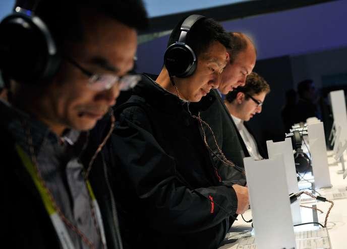 Au Consumers Electronics Show de Las Vegas, le 6 janvier.