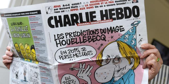 Le numéro de «Charlie Hebdo» datant du 7janvier, jour de la tuerie la rédaction du journal.