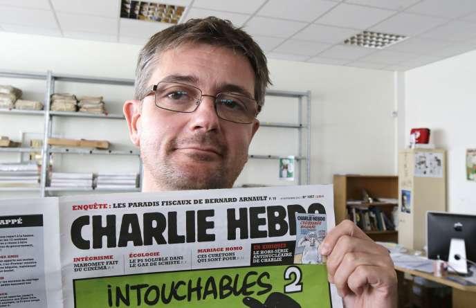 Charb, directeur de la rédaction de Charlie Hebdo, le 19 septembre 2012.