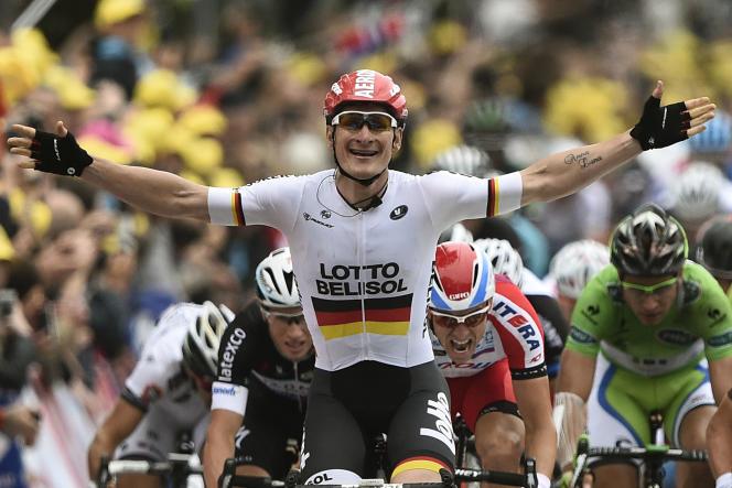 Le champion d'Allemagne Andre Greipel peut jubiler : tous ses compatriotes pourront assister à ses sprints victorieux sur le Tour de France 2015, qui sera diffusé sur la télévision publique outre-Rhin.