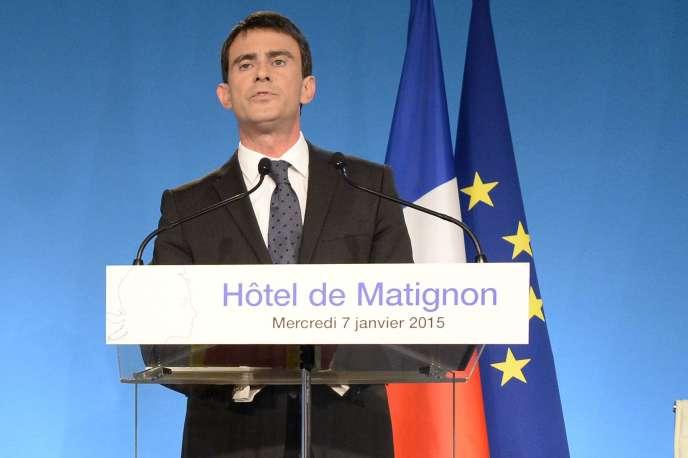 Manuel Valls, à Matignon, le 7janvier.