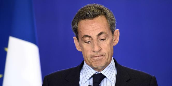 Le président de l'UMP Nicolas Sarkozy a fait une déclaration au siège du parti, après l'attentat contre