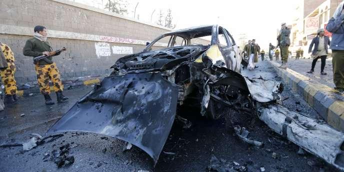 L'attentat à la voiture piégée s'est produit mercredi devant l'académie de police, dans le centre de la capitale yéménite.