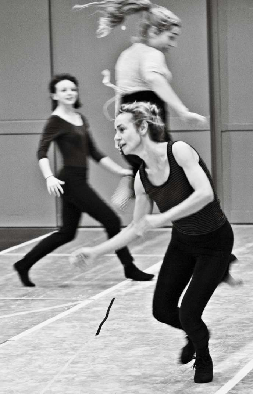 Sandrine Bonnaire, le 15 décembre 2014, en répétition à La Comédie de Valence, où le spectacle
