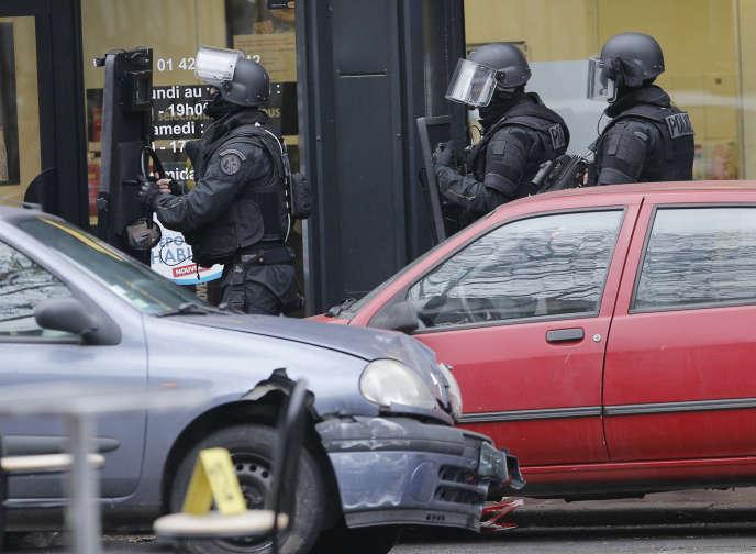 Après l'attaque contre la policière de Montrouge (Hauts-de-Seine), le 8 janvier.