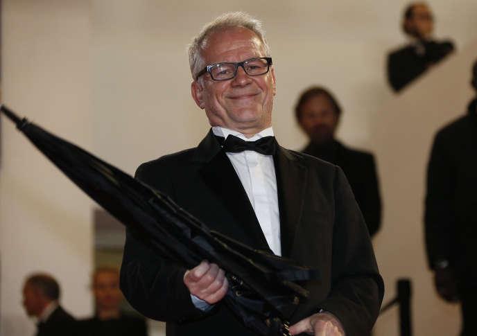 Thierry Frémaux, délégué général du Festival de Cannes, lors de la 67e édition de l'événement, le 19 mai2014.