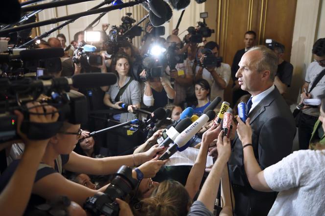 Eric Kariger au Conseil d'Etat,  le 24 juin 2014.