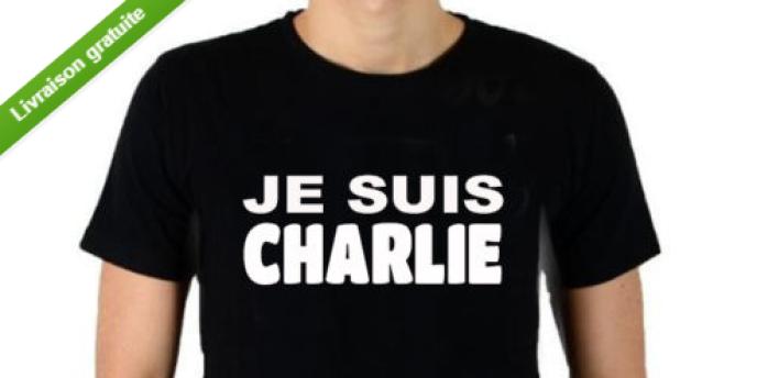 Sur eBay, on trouve des t-shirts, mugs, porte-clés et parapluies «Je suis Charlie».