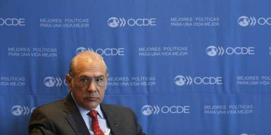 Le secrétaire général de l'OCDE, Angel Gurria, en janvier 2015, à Mexico.