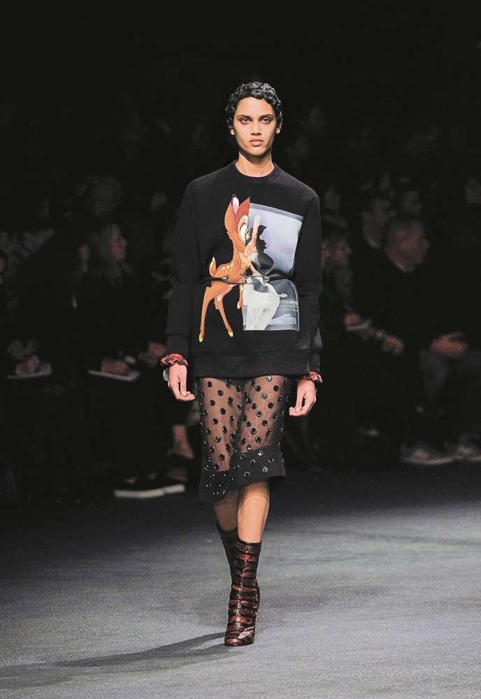 Bambi gambadait dans la collection hiver 2013-2014 chez Givenchy.