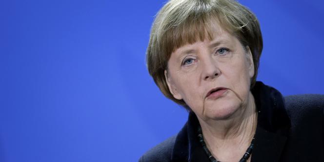 La chancelière allemande Angela Merkel, le 8 janvier à Berlin.